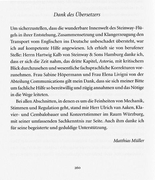 Danksagung von Matthias Müller